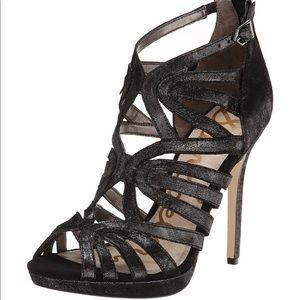 SAM EDELMAN Eve Leather Strappy Heel